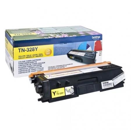 Заправка картриджа Brother TN-328Y для HL 4570C MFC 9970C DCP 9270C